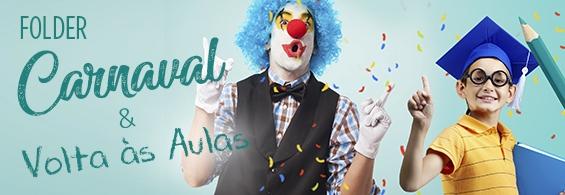 Banner Folder Carnaval e Volta Às Aulas